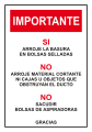 Importante, Arroje La Basura En Bolsas&#