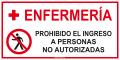 Enfermeria prohibido acceso no autorizad