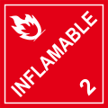 Inflamable (con numero 2)