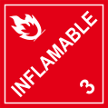Inflamable (con numero 3)
